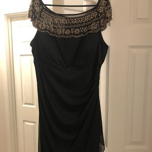 MSK black formal dress